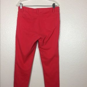 Faded Glory Women's Red Jegging Pants Sz XL 16-18